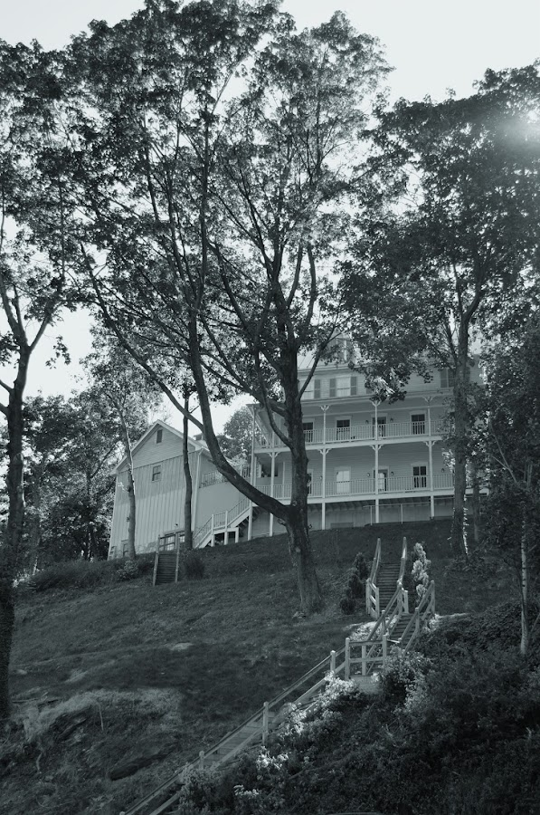 Old Harpers Ferry by Megan Donovan - Buildings & Architecture Homes ( cestmoi, home, cest moi artful imaging, black and white, house, harpers ferry, historic, wv, mountains, sky, megan donovan, outdoor, shenandoah river, trees, va )