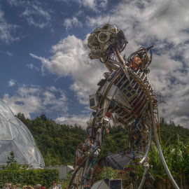by Stephen Hall - Artistic Objects Industrial Objects ( sculpture, industrial, eden project, cornwall )