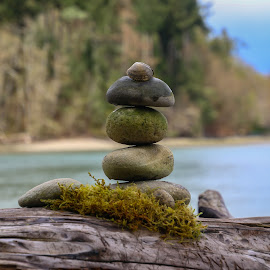 by Kathy Suttles - Artistic Objects Other Objects ( washington, natures art, suttleimpressions, nisqually valley, rock cairn, beach finds )