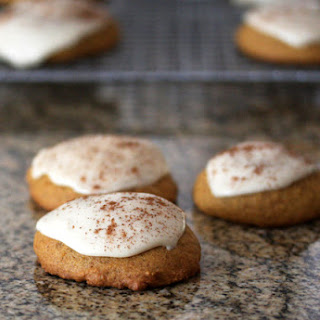 Pumpkin Cookies With Caramel Icing