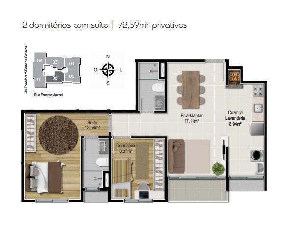 Planta 2 dormitórios - Final 6