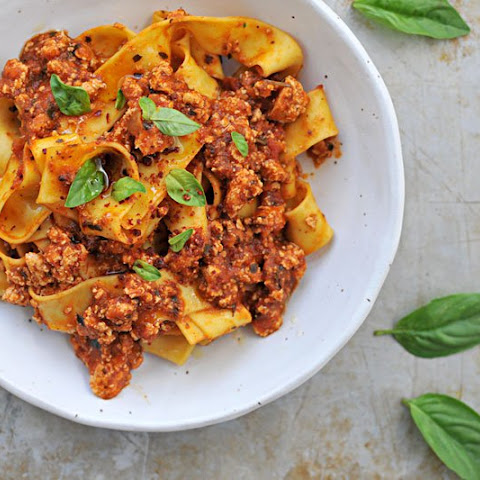 Fennel Spiced Tofu Bolognese // Fauxlognese