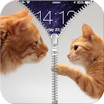 Kitty Zipper Screen Lock APK Image
