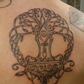 Yggdrasil by Bootlegger  by Vibecka Olson - People Body Art/Tattoos