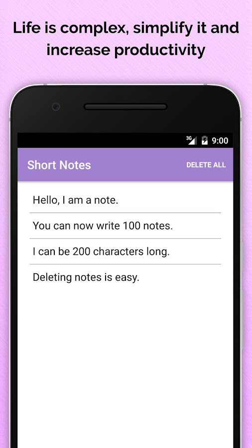Short Notes - 200 Chars Limits Screenshot 1