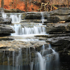 CONTRAST IN NATURE by Dana Johnson - Landscapes Waterscapes ( casdcade, waterscape, falls, waterfall, landscape, rocks, river )