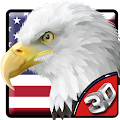Free 3D American Eagle Soar Theme APK for Windows 8
