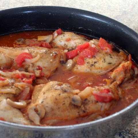 Hunter's Chicken With Tomatoes and Mushrooms