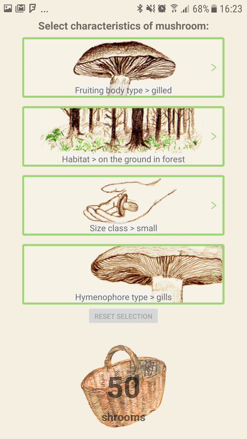 Mushrooms app Screenshot 3