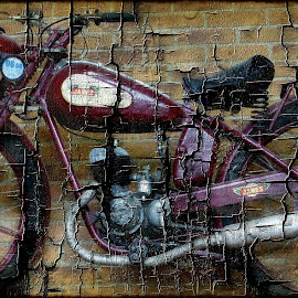 Vintage MotorBike by Janine Kain - Artistic Objects Other Objects ( motorbike, creative, numbers, transport, rustic, decay )