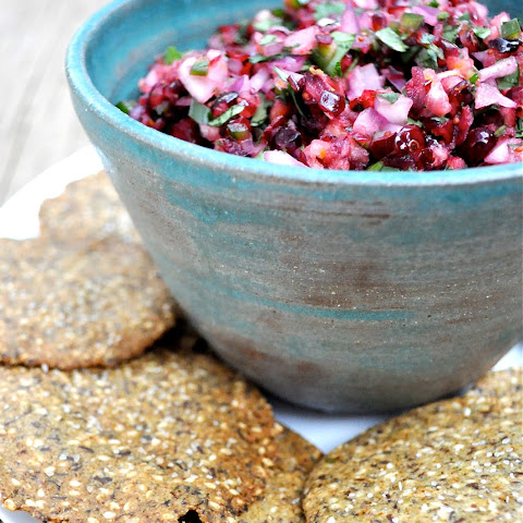 Paleo Cranberry Salsa and Chips
