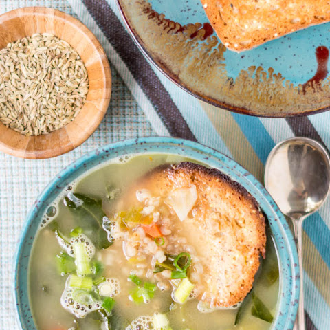 Hearty Vegetable & Brown Rice Soup