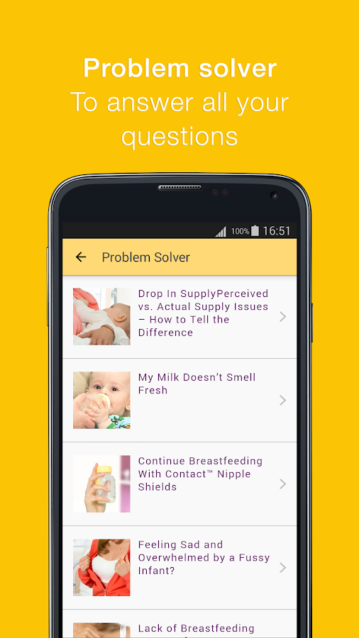 MyMedela Screenshot 2