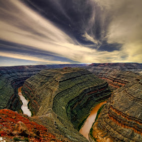 Gooseneck by Marco Caciolli - Landscapes Travel ( desert, sky, arizona, colorado, gooseneck, travel, river )