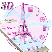 APK App 3D Pink Paris Eiffel Tower for BB, BlackBerry