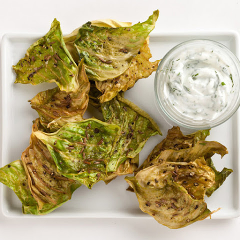 Caraway Cabbage Chips with Dill Yogurt