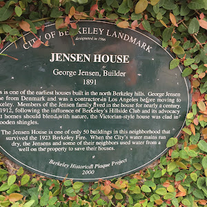 KELEY LANDMARK designated in 1996 CITY OF BERKELEY JENSEN HOUSE George Jensen, Builder 1891 This is one of the earliest houses built in the north Berkeley hills. George Jensen came from Denmark and ...