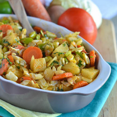 Ethiopian Stewed Cabbage and Carrots