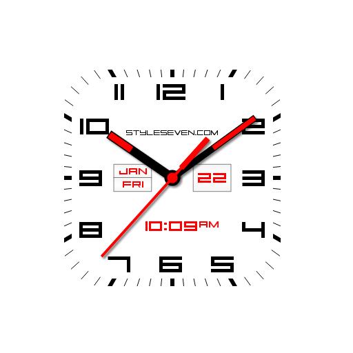 Square Analog Clock AW-7 PRO