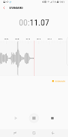 screenshot of Samsung Voice Recorder
