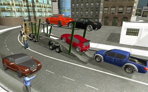 town car transport truck load - screenshot