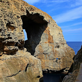 Wied il-Mielah Window, Gozo by Francis Xavier Camilleri - Landscapes Caves & Formations