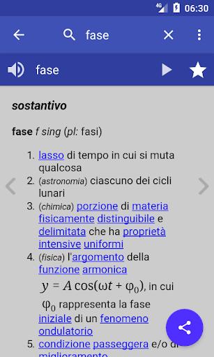 Italian Dictionary - Offline screenshot 1