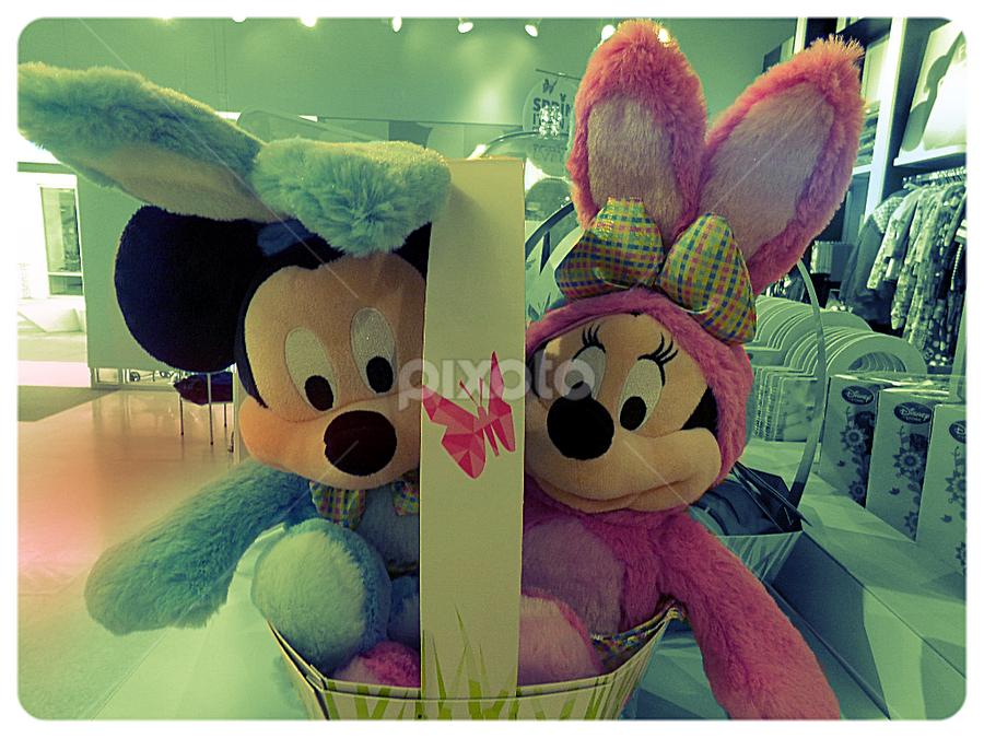 Disney Bunny Basket by Cheryl Beaudoin - Public Holidays Easter ( pastel, easter, bunny, basket, bunnies, disney,  )