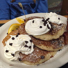 GF chocolate chip pancakes. Not on the GF menu but they will make them if you ask.