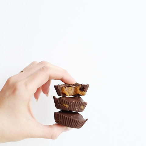 Healthy 3 Ingredient Caramel Peanut Butter Cups