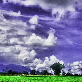 awan berarak by Luther Lumentah - Digital Art Things