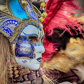 Venezia Carnevale Mask by Jiri Cetkovsky - People Street & Candids ( venezia, face, carnevale, mask, italy, people, historic, portrait )