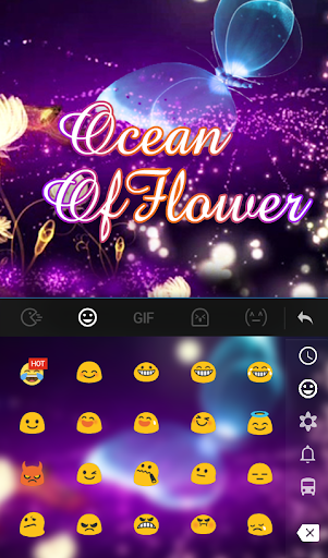 Ocean of Flower Keyboard Theme For PC