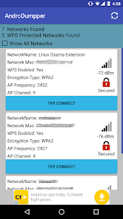 AndroDumpper ( WPS Connect ) Screenshot