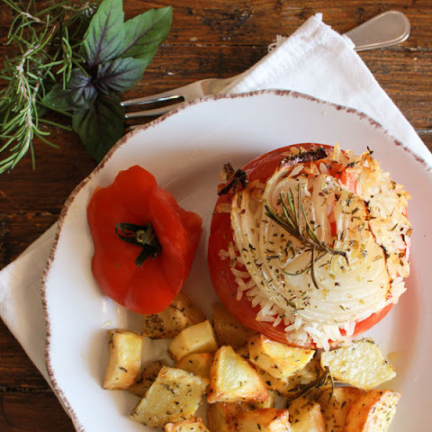 Italian Baked Stuffed Tomatoes With Rice