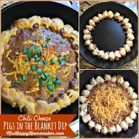 Chili Cheese Pig in the Blanket Dip