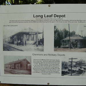 The depot was built on this site about 1906 as a joint agency of the St. Louis, Iron Mountain and Southern RR and the Red River and Gulf RR. Both shared expenses equally, and the RR&G provided ...