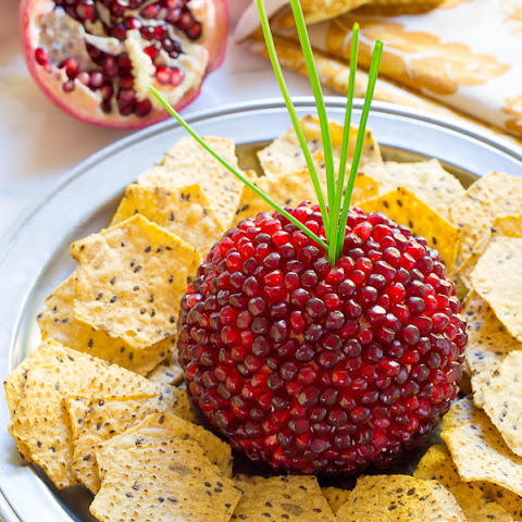 Pomegranate Crusted Cheese Ball