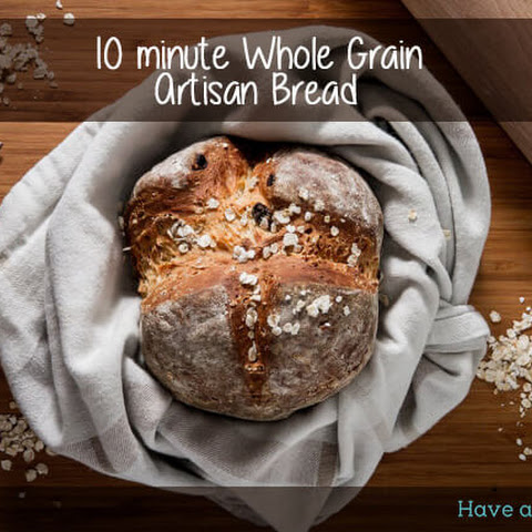 Easy Artisan bread with seeds, grains & honey