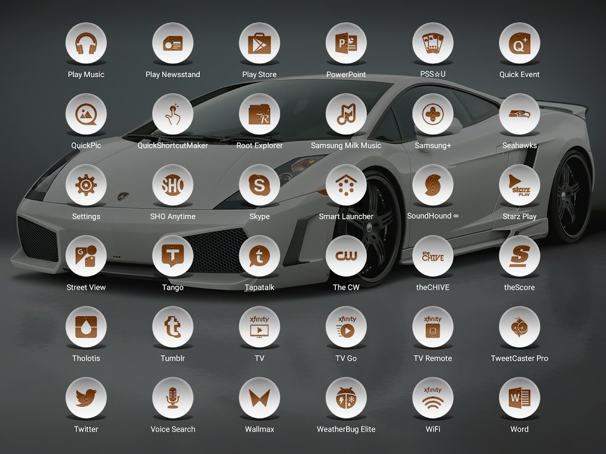 Daf White Wood - Icon Pack Screenshot 11