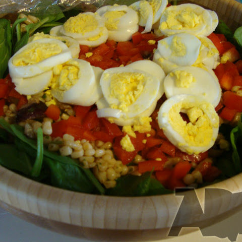 Chili Lime Corn and Spinach Salad