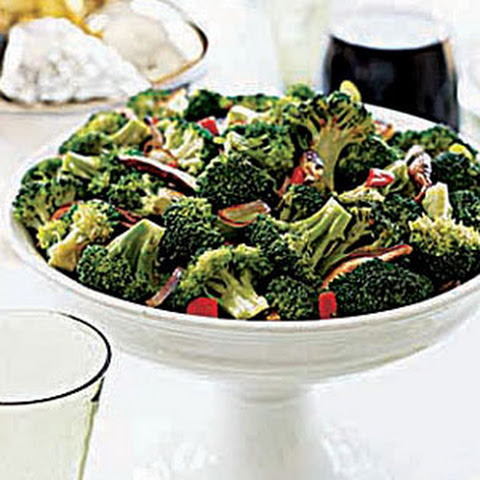 Broccoli, Mushrooms and Roasted Peppers