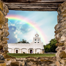 Mission San Juan Capistrano, San Antonio by Judy Rosanno - Buildings & Architecture Places of Worship ( frame, church, window, mission, world heritage site, historic )