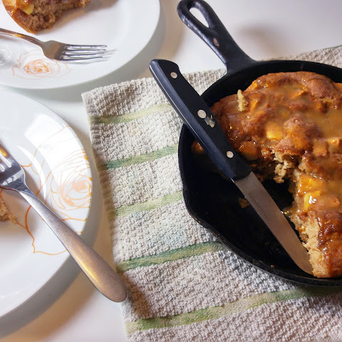 Candied Apple Skillet Bread {gluten free}