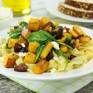 Pumpkin Spinach & Goats Cheese Fettuccine
