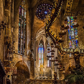 Palma de Mallorca Cathedral (Gaudi Altar) by Angela Higgins - Buildings & Architecture Places of Worship