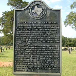 The family of John H. and Margaret Ford came to Texas prior to 1880. Establishing farms and homes, the family helped settle this area of Newton County. A community cemetery was begun on the land of ...
