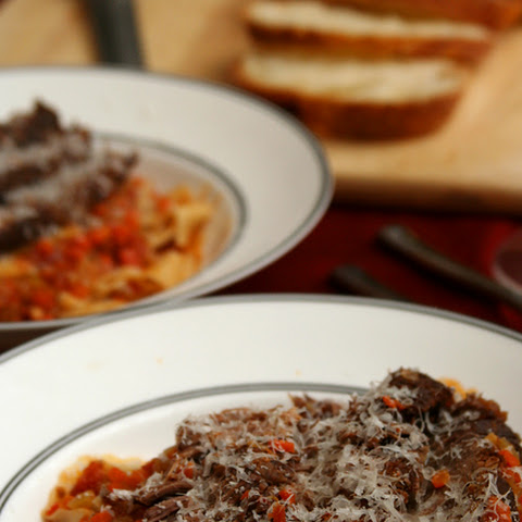 Pot Roast Pappardelle (adapted from Domenica Marchetti's The Glorious Pasta of Italy)