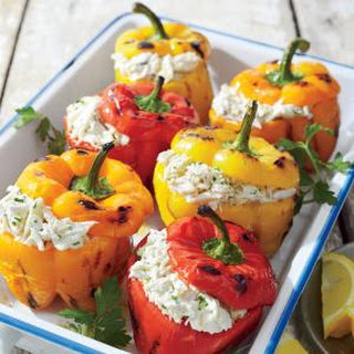 Crab-stuffed Grilled Bell Peppers