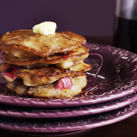 Apple Pecan Oatmeal Pancakes